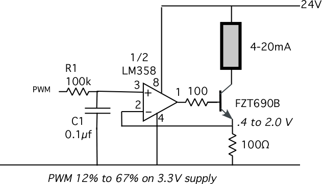 4 20ma Signal Generator Circuit : Ma output from propeller — parallax forums