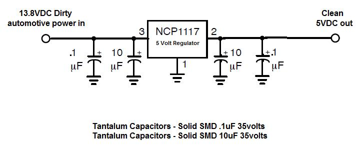 Is This A Good 5vdc Power Supply Circuit For Automotive Use