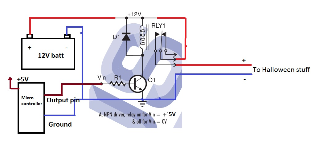 Help wiring relay — Parallax Forums on