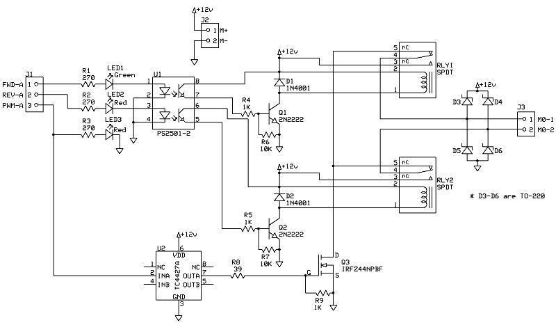 H-bridge circuit? — Parallax Forums on brushed motor speed controller, dual motor controller, dc motor controller, arduino bulldozer motor controller,