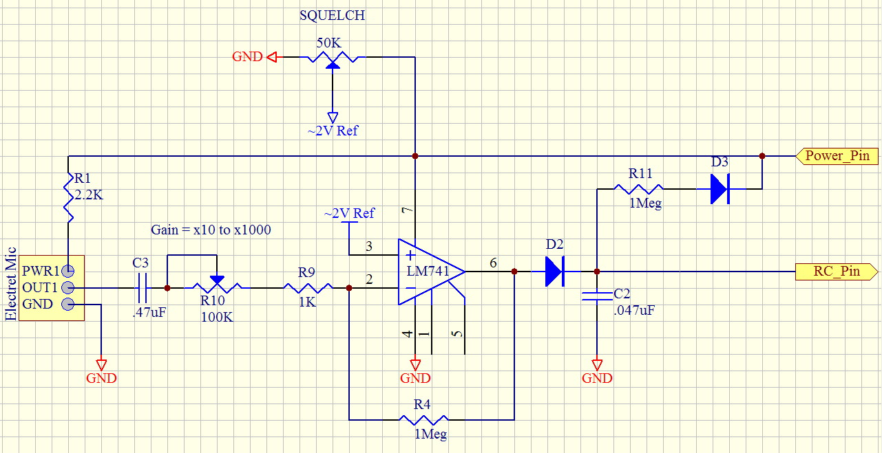 Measuring Ambient Sound Levels Parallax Forums Lm741 The 741 Op Amp Is Used As A Summing Amplifier To Combine Several 1281 X 659 227k
