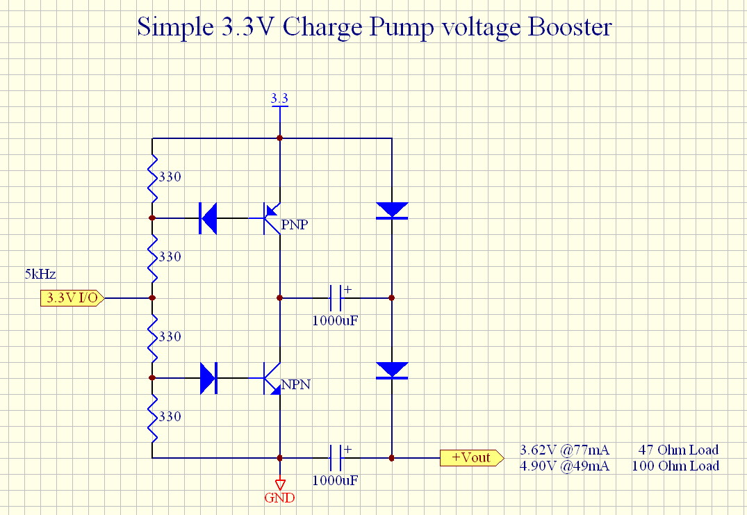 Simple 33v Charge Pump Voltage Booster Parallax Forums Inductor Circuit