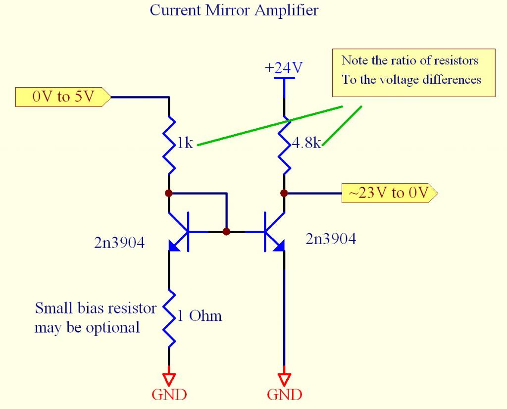 Biasing Transistors In The Linear Region Parallax Forums Transistor Amplifier Example 5to24v2
