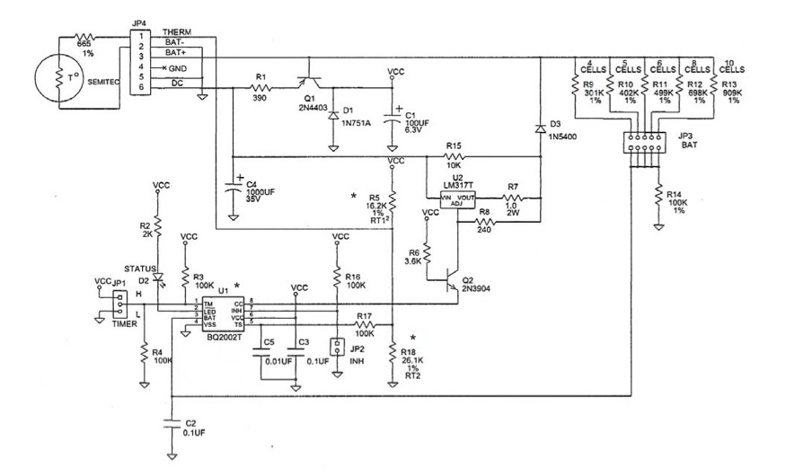 Question about this NiMH charging circuit - BQ2002 ... on 24vdc 40 amp controller charger schematic, usb charger schematic, lithium charger schematic, lipo charger schematic, 12 volt fence charger schematic, car charger schematic, nicad charger schematic, cell charger schematic, solar charger schematic, battery charger schematic,