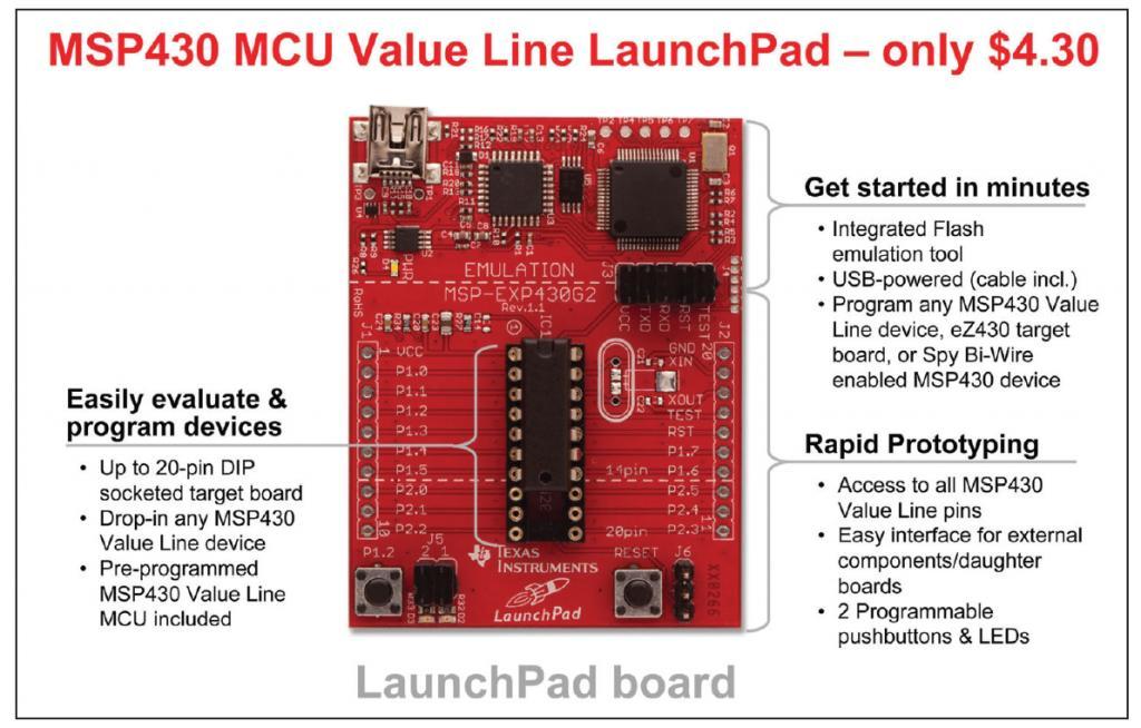 Dirt cheap (39 cent) MSP430 16-bit CPU as Prop peripheral