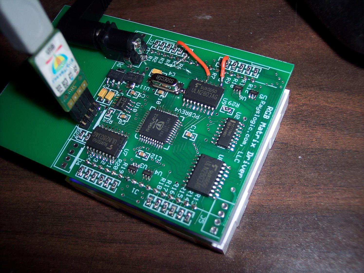 Prop Powered 8x8xrgb Led Matrix Parallax Forums First Step Into Programming Propeller Propmatrixdriver