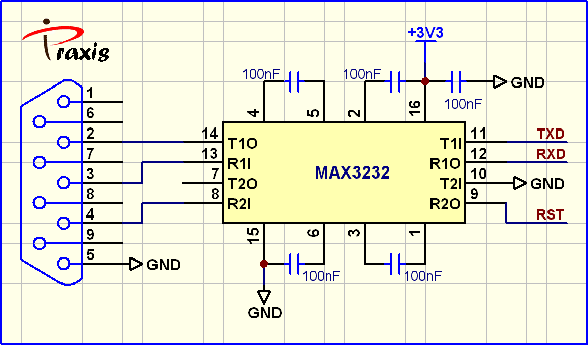Max232 Potoboard Interface Parallax Forums Pin Diagram Max3232
