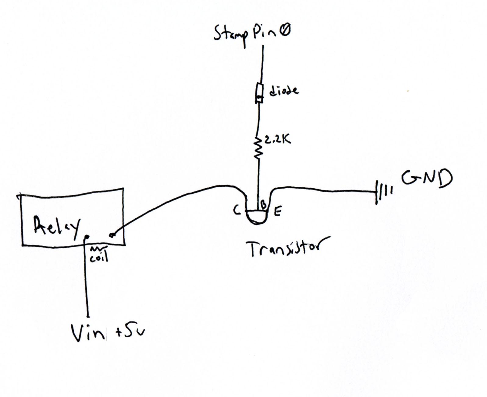 Noise Problem Driving Relay Parallax Forums Darlington Pair Circuit Schematic