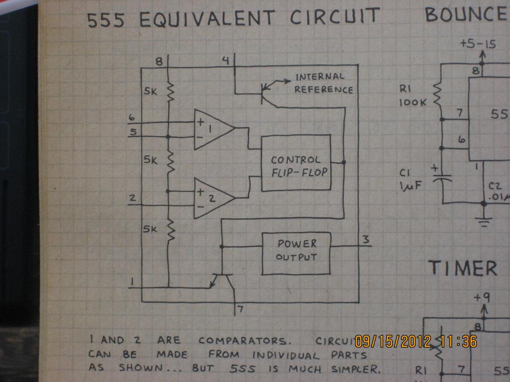 We Are Giving You Both Block Diagram And Internal Circuit Of The 555