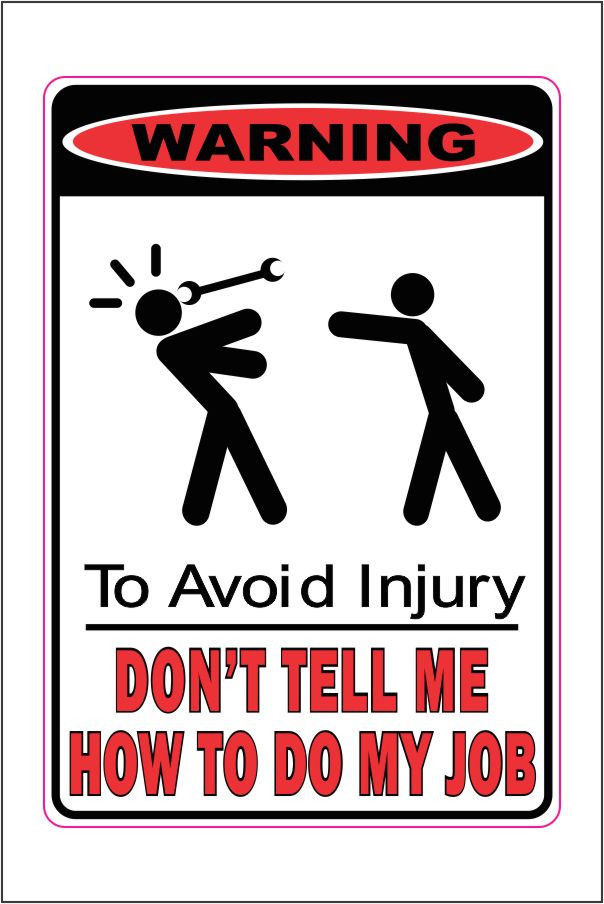 Important Workplace Safety Signs - Parallax Forums