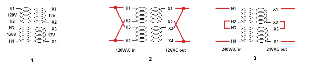240v 120v transformer connection question parallax forums Single Phase Transformer Wiring Diagram 24v dual voltage transformer jpg Single Phase Transformer Schematic