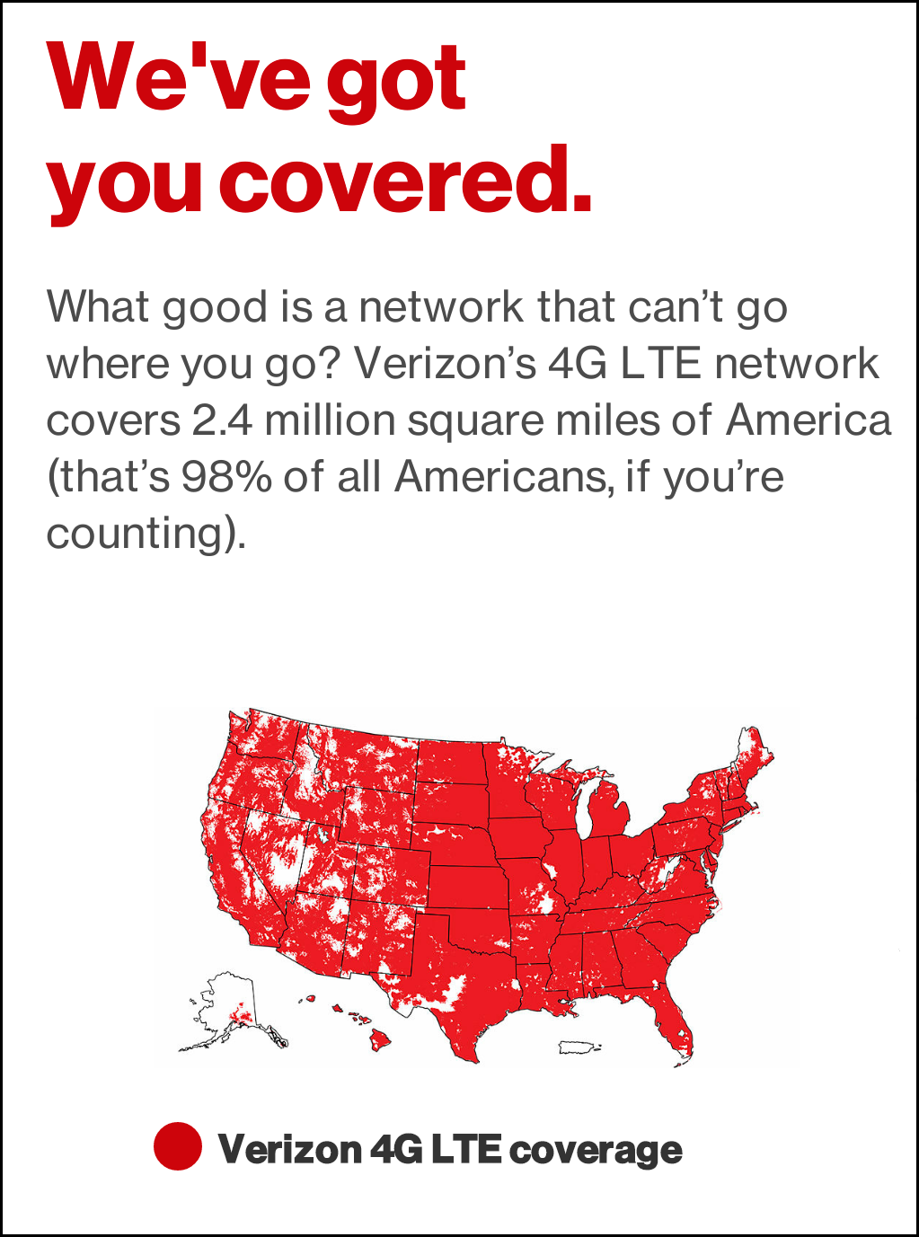 Verizon 4g Lte Coverage Map Us Png