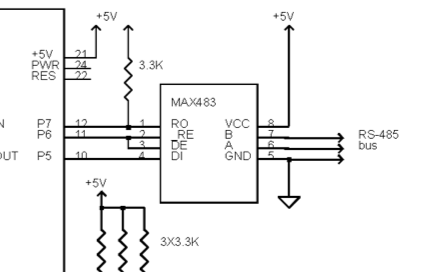 Rs485 Termination Resistor Schematic in addition Rs 422 Wiring Diagram further D also Troubleshooting To Find Damaged FOSTCDR Units together with Arduino Rs485 Schematic. on standard rs 485 pinout