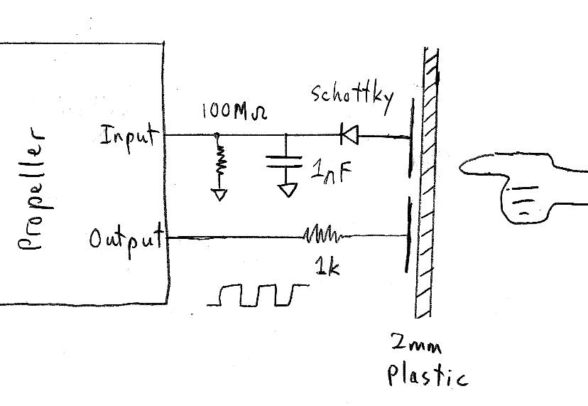simple capacitive touch sensor