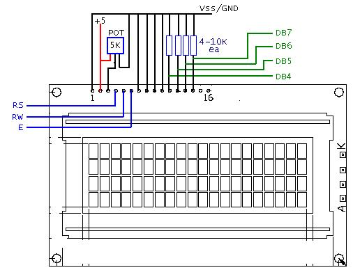 lcd wiring configuration parallax forums