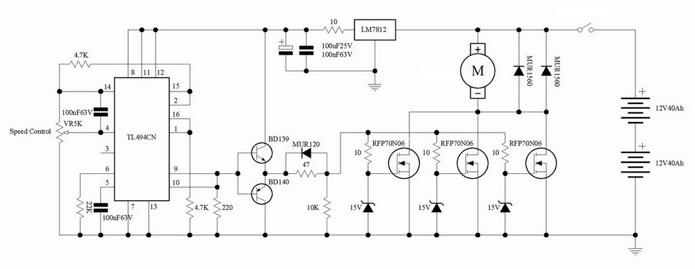 35v Dc Motor Controller  Pwm