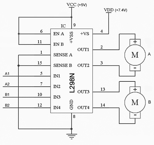 How To Use A L298n Dual H Bridge With A Microcontroller