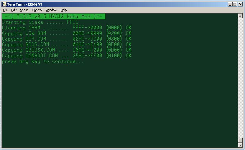 ZiCog a Zilog Z80 emulator in 1 Cog - Page 9 — Parallax Forums