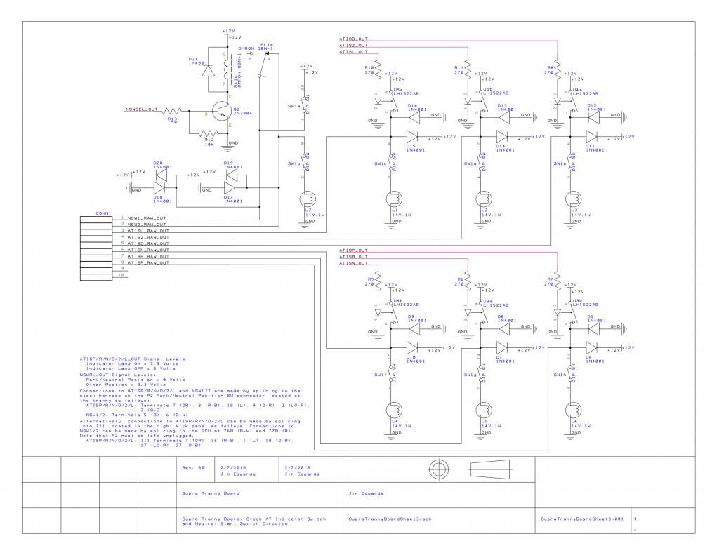 Project Automatic Transmission Interface Board Part 1 Of 3 1jz Auto Wiring Diagram Supra Tranny Sheet 4