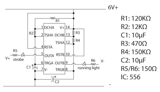 led test circuit not bright  where did i go wrong